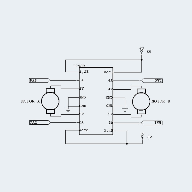 l239d ic motor drive ic dual h